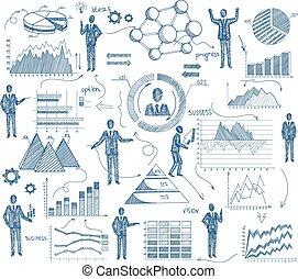 gestion, croquis, concept
