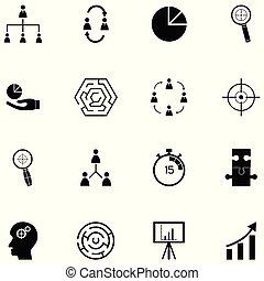 gestion, ensemble, icône