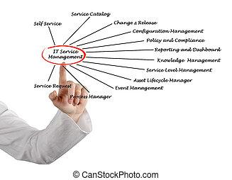 gestion, il, service