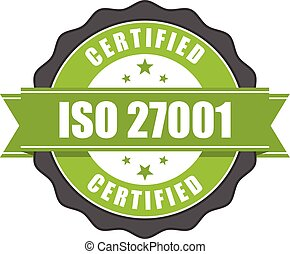 gestion information, certificat, -, norme, iso, sécurité, 27001, écusson