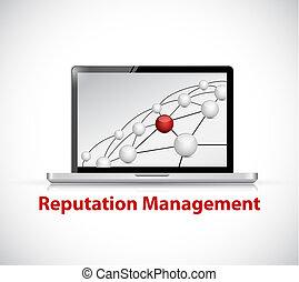 gestion, informatique, signe, réputation