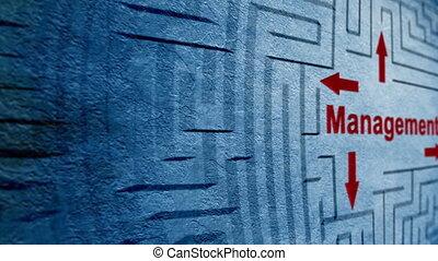 gestion, labyrinthe, concept