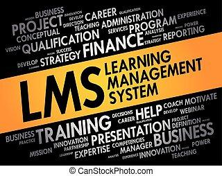 gestion, (lms), système, apprentissage