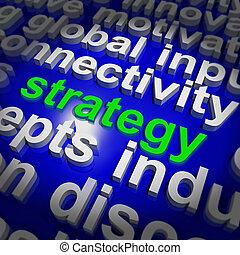 gestion, mot, but, business, solution, stratégie, ou, nuage, spectacles