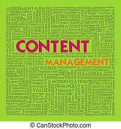 gestion, mot, concept affaires, contenu, nuage