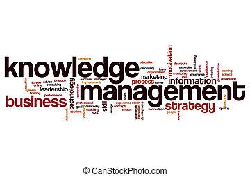 gestion, mot, connaissance, nuage