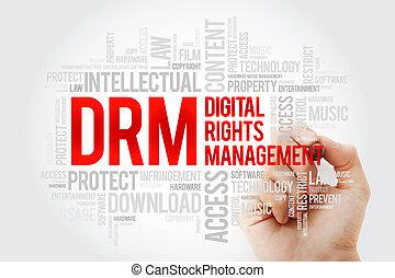 gestion, mot, droits, -, drm, numérique, nuage