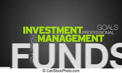 gestion, mot, investissement, nuage