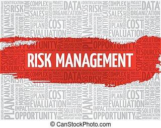 gestion, mot, risque, nuage