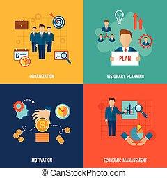 gestion, plat, ensemble