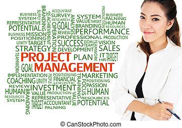 gestion, projet, concept