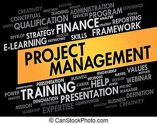 gestion projet, mot, nuage