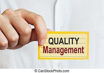gestion, qualité, carte