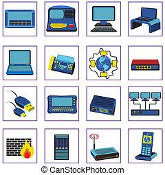 gestion réseau, icônes