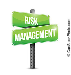 gestion, risque, illustration, signe, conception, route