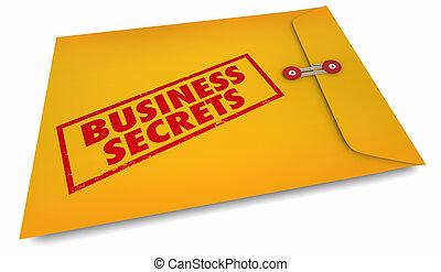 gestion, secrets affaires, compagnie, illustration, courant, ton, 3d