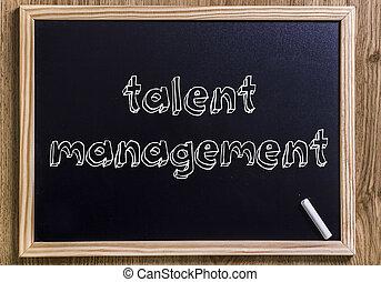 gestion, talent, texte, esquissé, -, tableau, nouveau, 3d