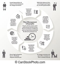 gestion, temps, infographics