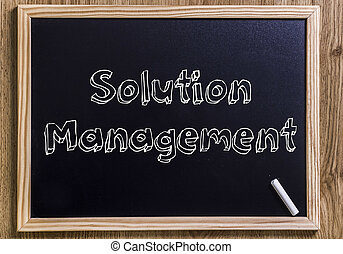 gestion, texte, esquissé, -, solution, tableau, nouveau, 3d
