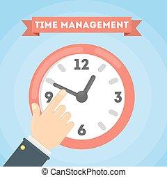 gestione del proprio tempo, concept.