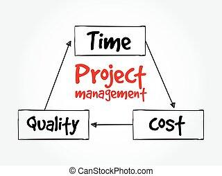 gestione progetti, tempo, costo, qualità
