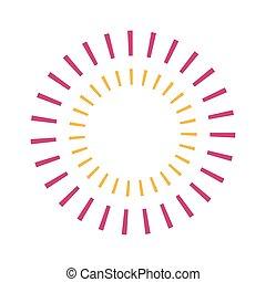 gestreepte , vector, ontwerp, cirkel