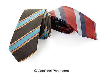 gestreepte , witte , stropdas