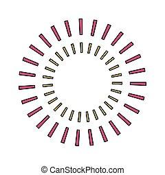 gestreift, vektor, design, kreis