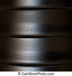 gestructureerd, metaal, oppervlakte, aluminium