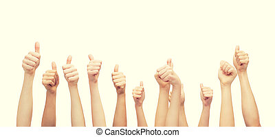 hands showing thumbs up