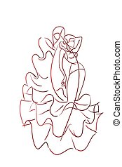 Gesture drawing flamenco dancer expressive pose