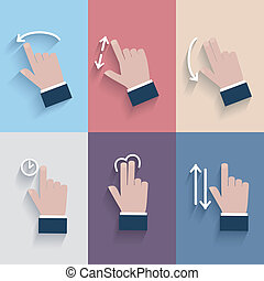Gesture icons for touch devices. - Gesture icons for touch...