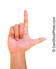 Gesture of the hand, a sign of loser