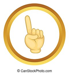 Gesture thumb up vector icon