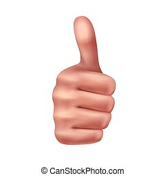 Gesture thumbs up