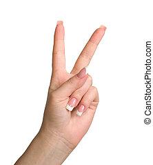 gesture., triunfo