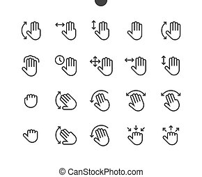 Gesture View Outlined Pixel Perfect Well-crafted Vector Thin Line Icons 48x48 Ready for 24x24 Grid for Web Graphics and Apps with Editable Stroke. Simple Minimal Pictogram