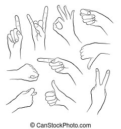 Gestures outlines