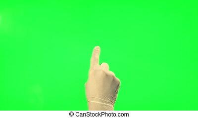 Gestures - surgical gloves