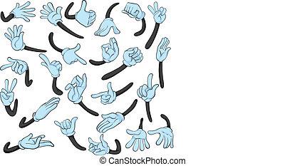 gestus, hånd