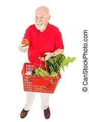 gesunde, älter, käufer