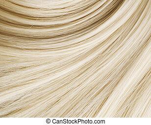 gesunde, blondes haar