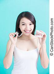 gesunde, dental, begriff