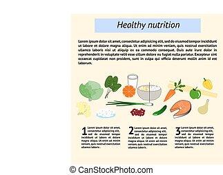 gesunde, ernährung, tamplate, infographics