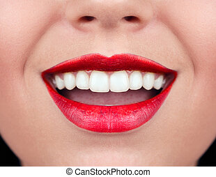 gesunde frau, smile., z�hne