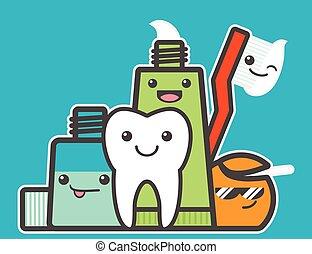 gesunde, friends, am besten, tooth.
