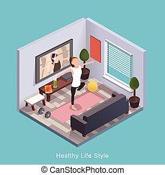 gesunde, lebensstil