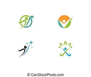 gesunde, logo, leben