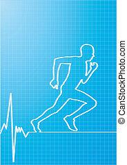 gesunde, rennender
