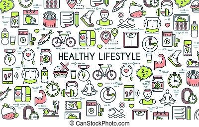 gesunder-lebensstil-banner-clip-art-vekt